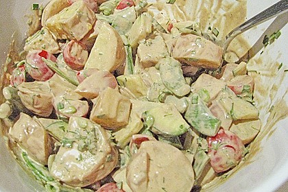 Kartoffelsalat mit Gemüse 1