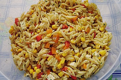 Kritharaki - Salat 10