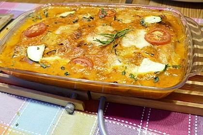 Hackfleischröllchen mit Paprika und Tomaten