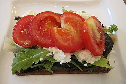 Brote mit Salat - Frischkäsebelag 2