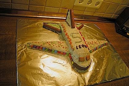 Geburtstagskuchen als 'Spaceshuttle' oder 'Raketenkuchen' 2