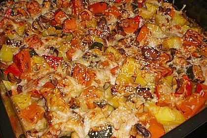 Eichkatzerls herbstlicher Kartoffel-Kürbis-Auflauf (Bild)