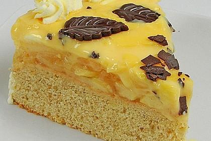 Apfeltorte mit Pudding - Eierlikör - Guss 6