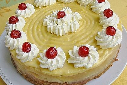 Apfeltorte mit Pudding - Eierlikör - Guss 15