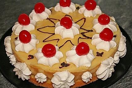 Apfeltorte mit Pudding - Eierlikör - Guss 10