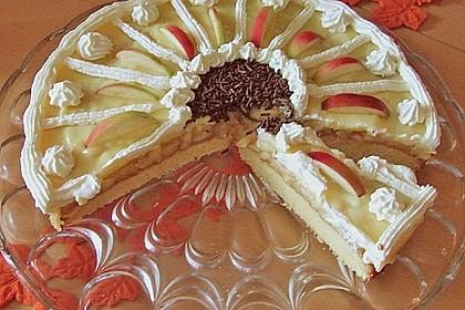 Apfeltorte mit Pudding - Eierlikör - Guss 36