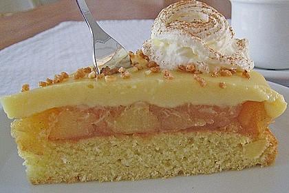 Apfeltorte mit Pudding - Eierlikör - Guss 5