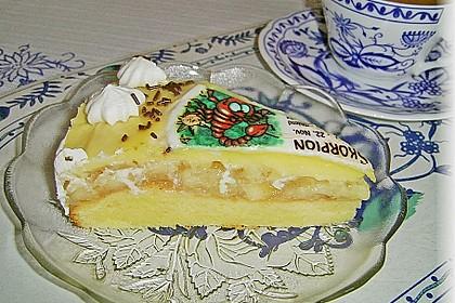 Apfeltorte mit Pudding - Eierlikör - Guss 31