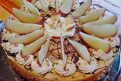 Apfeltorte mit Pudding - Eierlikör - Guss 2