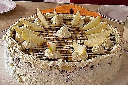 Apfeltorte mit Pudding - Eierlikör - Guss 35