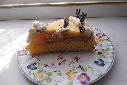 Apfeltorte mit Pudding - Eierlikör - Guss 46