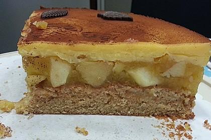 Apfeltorte mit Pudding - Eierlikör - Guss 25