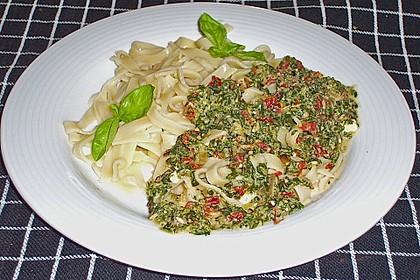 Spaghetti in Frischkäse - Spinat - Soße 2