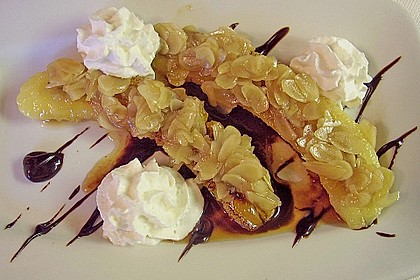 Bananen mit Amaretto - Mandeln 2