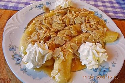 Bananen mit Amaretto - Mandeln 9