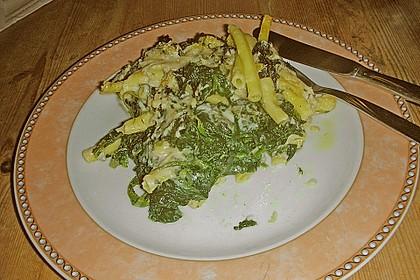 Nudelauflauf mit Spinat 5