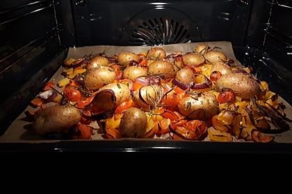 Ofenkartoffeln mit mediterranem Gemüse 1