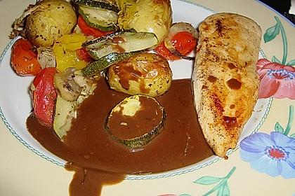 Ofenkartoffeln mit mediterranem Gemüse 10