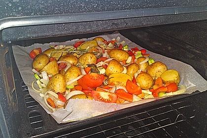Ofenkartoffeln mit mediterranem Gemüse 4