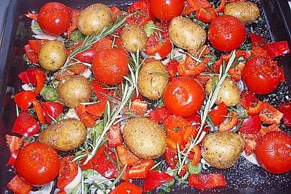 Ofenkartoffeln mit mediterranem Gemüse 3