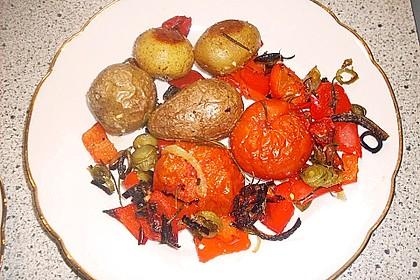 Ofenkartoffeln mit mediterranem Gemüse 8
