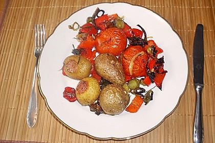Ofenkartoffeln mit mediterranem Gemüse 7