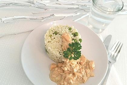 Lachsfilet in feiner Dillsauce, mit Reis 2