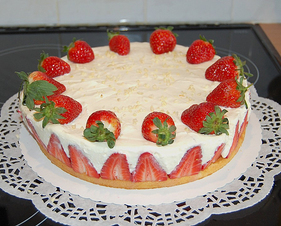 Erdbeer Quark Sahne Torte Von Sussmaulchen Chefkoch De