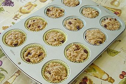 Apfel - Muffins mit  Rosinen 7