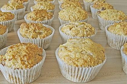 Apfel - Muffins mit  Rosinen 3