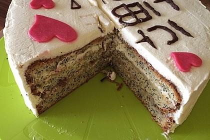 Apfel - Mohn - Marzipan - Torte 21
