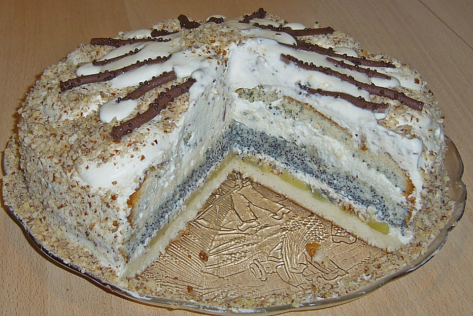 Apfel Mohn Marzipan Torte Von Mimily Chefkoch De