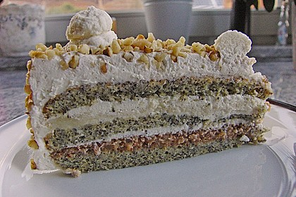 Apfel - Mohn - Marzipan - Torte 5