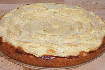 Apfel - Marzipankuchen mit Vanille - Schmandguss 4