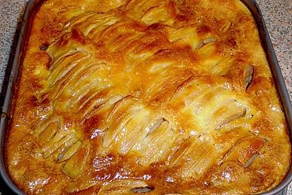 Apfel - Marzipankuchen mit Vanille - Schmandguss 3