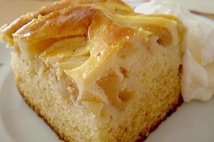 Apfel - Marzipankuchen mit Vanille - Schmandguss 10