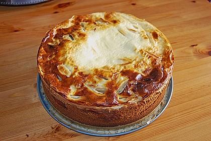 Apfel - Marzipankuchen mit Vanille - Schmandguss 6