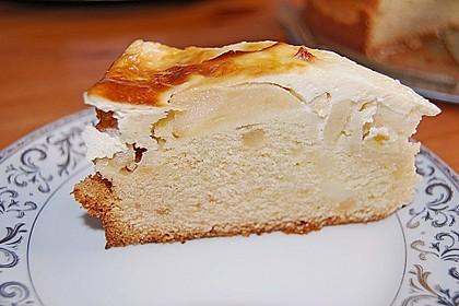 Apfel - Marzipankuchen mit Vanille - Schmandguss 5