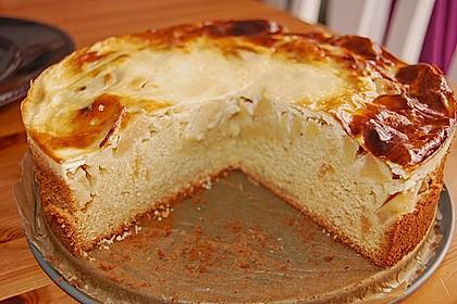 Apfel - Marzipankuchen mit Vanille - Schmandguss 2