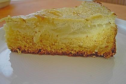 Apfel - Marzipankuchen mit Vanille - Schmandguss