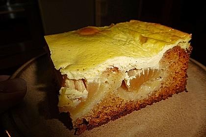 Apfel - Marzipankuchen mit Vanille - Schmandguss 13