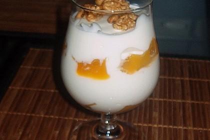 Mango - Quark - Dessert mit Walnüssen 19