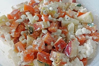 Hüttenkäse - Apfel - Salat