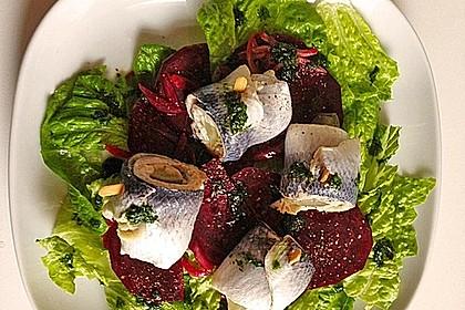 Rote Bete - Salat mit Rollmops 3