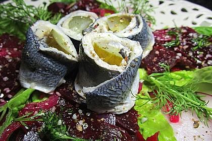 Rote Bete - Salat mit Rollmops 2