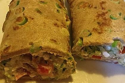 Sommerpfannkuchen mit Zucchini - Knoblauch - Frischkäse - Füllung 29