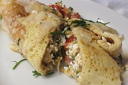 Sommerpfannkuchen mit Zucchini - Knoblauch - Frischkäse - Füllung 9