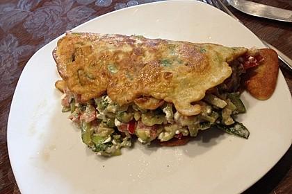 Sommerpfannkuchen mit Zucchini - Knoblauch - Frischkäse - Füllung 37