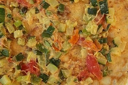 Sommerpfannkuchen mit Zucchini - Knoblauch - Frischkäse - Füllung 26