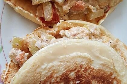 Sommerpfannkuchen mit Zucchini - Knoblauch - Frischkäse - Füllung 35